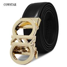 COWSTAR Men Belt Male Genuine Leather Strap Belts For Men To