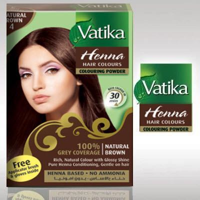 Vatika Henna Powder Hair Dye With Four Different Colors Di Warna