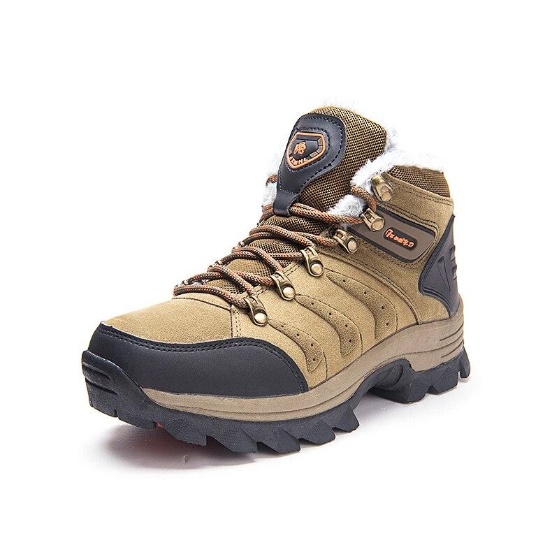 8efec2eab82 Tamaño Nieve verde Botas Cuero Zapatos Antideslizantes Más gris Unisex  Suede Libre Militar Grande Marrón Zapatillas Al Impermeable Hombres Invierno  ...