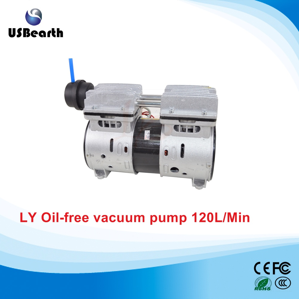 220V non oil vaccum pump 120L/Min 550W manka care 110v 220v ac 50l min 165w small electric piston vacuum pump silent pumps oil less oil free compressing pump