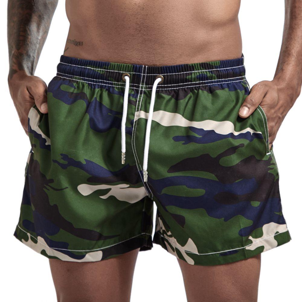 Camouflage Mens Board Shorts Surf Swimwear Beach Short Man Swim Shorts Summer Male Athletic Running Gym Shorts Man Size