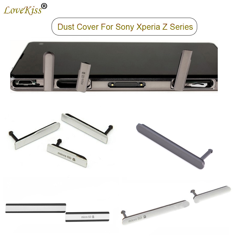 Z3 SIM Card Micro SD USB Charging Port Slot Block Cover For Sony Xperia Z5 Premium Z3 Compact Z2 Z1 Z1mini Z3mini Dust Plug Case