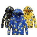 Новый Год Мальчики Зимнее Пальто Миньон Верхняя Одежда Детей Зимняя куртка для мальчика Теплый Мультфильм Хлопок Теплый Моды Пальто Для 3-10 Т