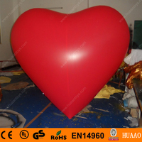 Free shipping 2m/6.5ft Giant PVC inflatable heart balloon for wedding