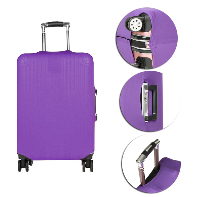 8ea0d51965e9 18-20 inch Candy Color Travel Luggage Cover For Suitcase Anti-scratch  Dustproof Trolley Case Elastic Suitcases Baggage Protector