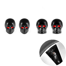 4Pcs/lot New Skull Tire Tyre Wheel Car Auto Caps Valves Dust Stem Cover Motocycle Bicycle