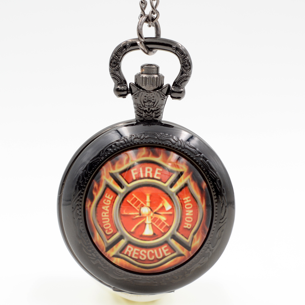 compare prices on watch men of honor online shopping buy low fashion courage fire honor rescue black silver bronze quartz pocket watch analog pendant necklace