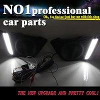 Car Styling For Honda Fit 2014 2016 LED DRL For Led Fog Lamps Daytime Running High