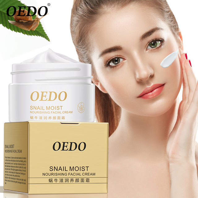 Snail Moisturizing Nourishing Cream Desalination Fine Line Shrinking Pore Firming Lifting Facial Skin Smoothing Facial Skin Care