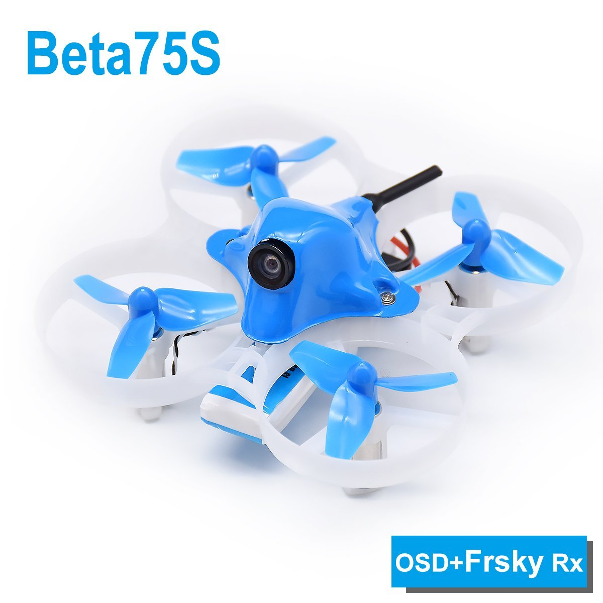 BETAFPV Beta75S BNF Tiny Whoop Quadcopter Frsky Receiver with OSD for 8X20 Motor радиоуправляемый квадрокоптер betafpv beta65s whoop quad frsky rx bnf