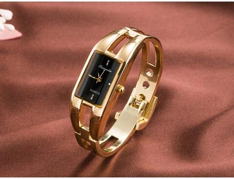 Marca de Moda das Senhoras para Mulheres Moda de Luxo de Ouro de Aço Assista as Mulheres Vestem de Relógio Pulseira de Quartzo Inoxidável – Lote 2020 se 10 Pçs