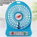 "4"" MINI USB LED Portable Office Desktop Game Fan,4.5W 3-gear Adjustment Wind Speed  Li-ion Rechargeable Fan,Super Strong Wind"