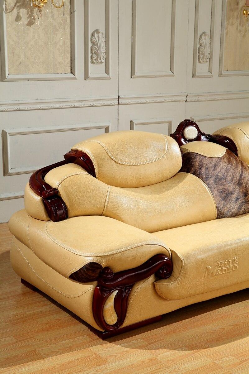 Europeo Antiguo Sof De Cuero Sal N Sof Hecho En China Sof  # Muebles Seccionales En Miami