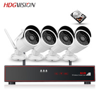 HDGVISION 4CH Wireless NVR Kit P2P 4 0MP HD IP Video Security Camera System Waterproof Night