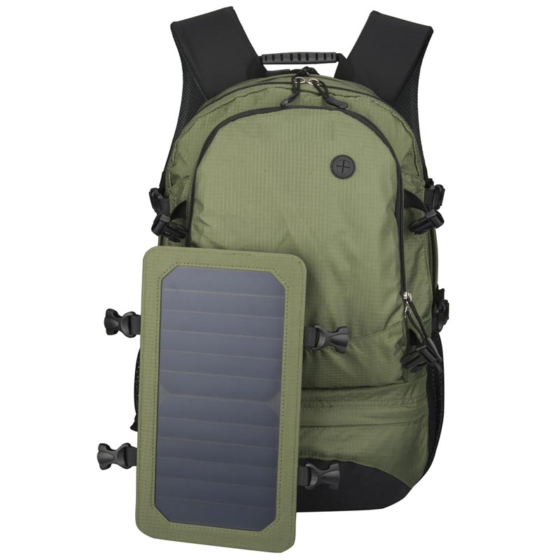 35L Solar Backpack Cycling Climbing Hiking Travel Solar Power Backpack with Solar Panel Bottle Bag Men and Women Laptop Bag