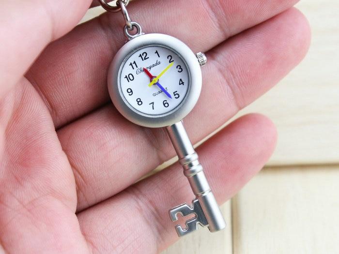 Hot Selling Key Chain Pendant Necklace Keychain Quartz Pocket Watch Mens Womens Souvenir Gift