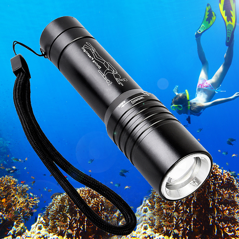3800LM Diving Flashlight CREE XML T6 LED light Lamp Torch Underwater 50M Waterproof 18650/AAA Battery Diver Self defence zk67 3800lm aluminum waterproof bicycle lamp rechargable cycling light torches e17 cree xml t6 torch for 18650 battery driving lights