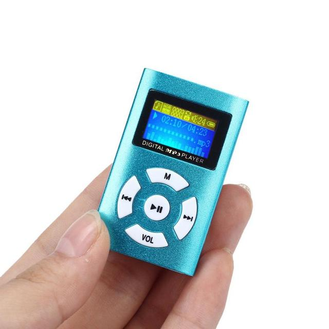 New Top Sale Fashion Portable Usb Mini Mp3 Player Lcd Screen Support
