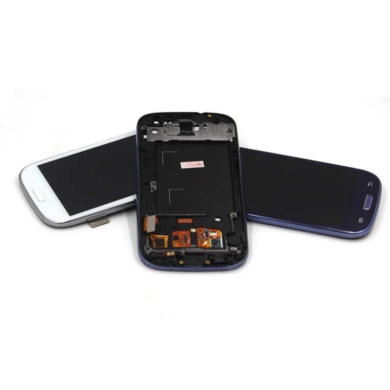 شاشة متوافقة ل samsung s3 i9300 lcd إطار عرض s3 i9300 عرض متوافق ل samsung s3 i9300 LCD محول الأرقام الجمعية
