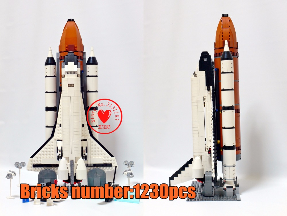 цены 1230Pcs Space Shuttle Expedition Model Building Blocks Bricks Set creator 10231 compatiable legoes gift kid Children Toys