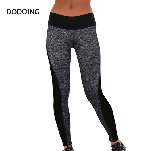 DODOING Patchwork Slim Workout Pants Lady legins work out Clothes Outdoors women