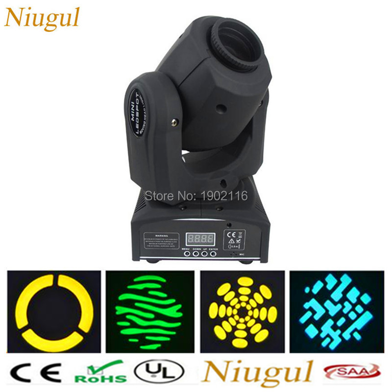 Niugul 10W led gobo projector/mini led spot moving head rotating light/LED KTV disco dj lighting/10W LED patterns Effect light high quality mini 10w led spot moving head 7 gobo stage light disco dj dmx512 rgbw stage effect projector stereotypes packaged
