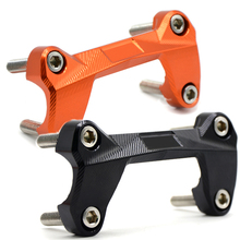 For DUKE 390 200 125 Orange Motorcycle CNC Aluminum Handlebar Risers Mount Top Cover Clamp Fit For KTM DUKE 390 200 125 цена в Москве и Питере
