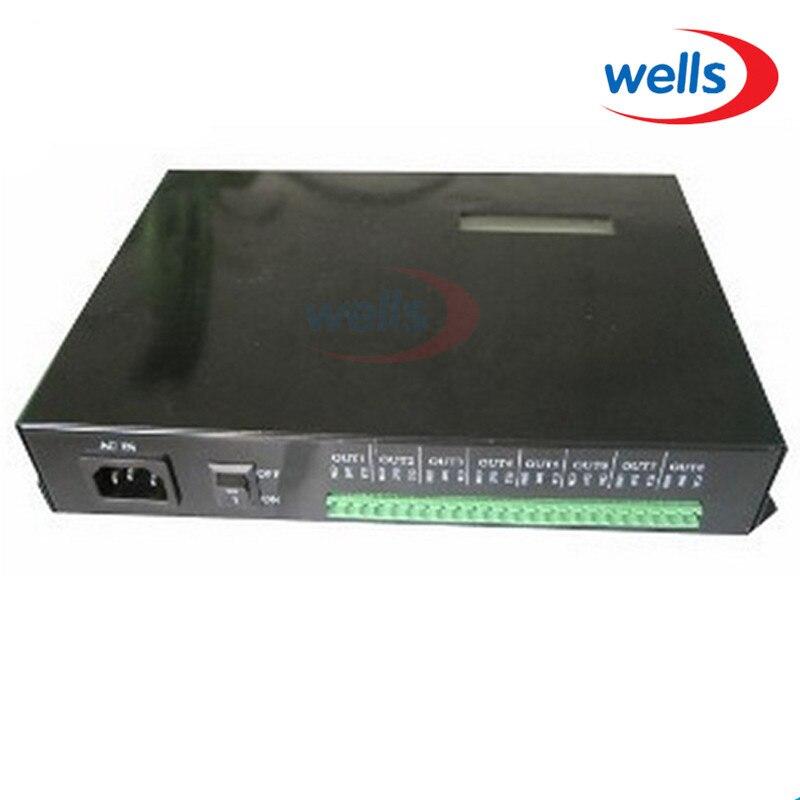 T 200K online Led Pixel DMX Controller Program by PC For WS2812 WS2811 1809 6803 WS2801 Pixels Strip 8ports*512pixels,4096pixels