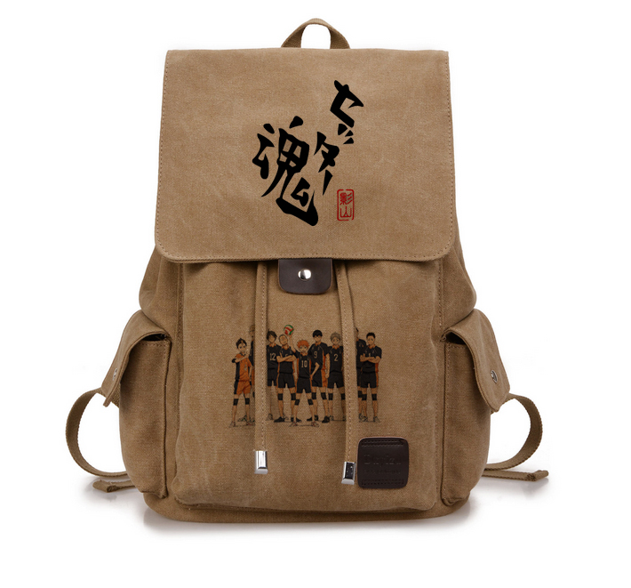 Anime Haikyuu Cosplay Hinata Syouyou Cos Student canvas men and women backpack аксессуары для косплея cosplay wig cosplay cos cos