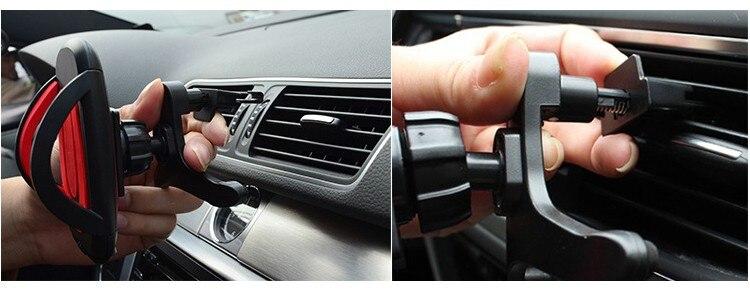 אנטי להחליק את המכונית להשתמש אוורור, מחזיק טלפון עבור רוב הטלפונים החכמים גודל מתכוונן פלסטיק הרכב מחזיק טלפון עבור Iphone6 סמסונג