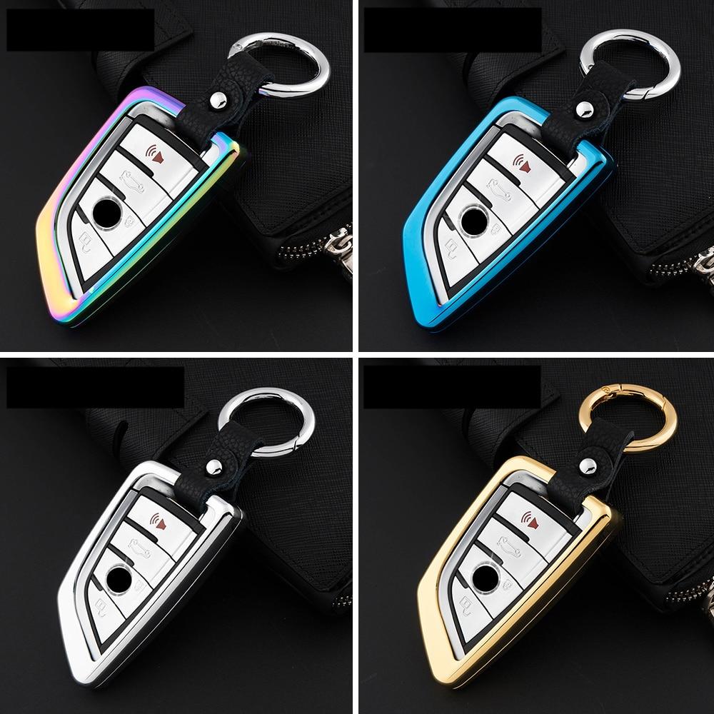 For bmw x5 x6 blade sieries zinc alloy auto car key case cover keychain key ring