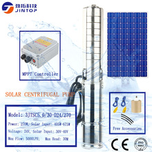 (MODEL 3JTSC5.0/30-D24/270) JINTOP SOLAR DC BRUSHLESS SCREW PUMP Water Pump 3000L/H 30M Head Stainless Steel Solar Submersible