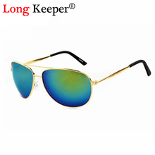 Long keeper recubrimiento marco de aleación de metal de la manera gafas de sol de las mujeres retro de la vendimia 2016 gafas de sol de moda oculos gafas lentes de sol