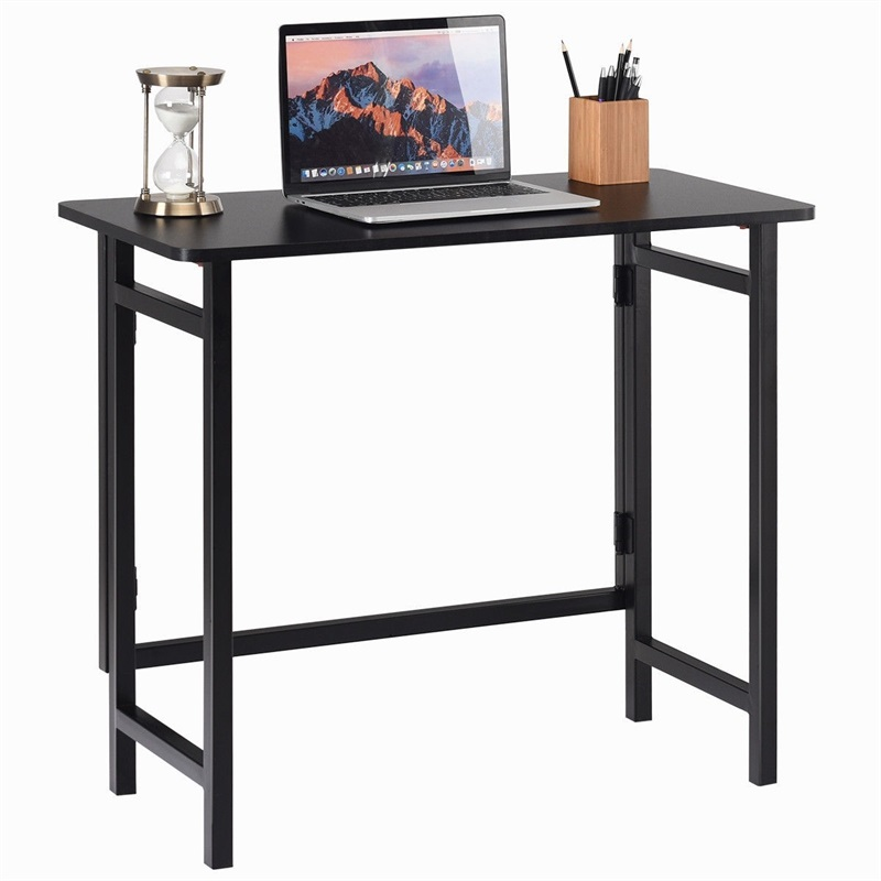 Home Office Folding Computer Writing Desk High Quality MDF Metal Home Living Room Bedroom Studying Standing Desks HW56263