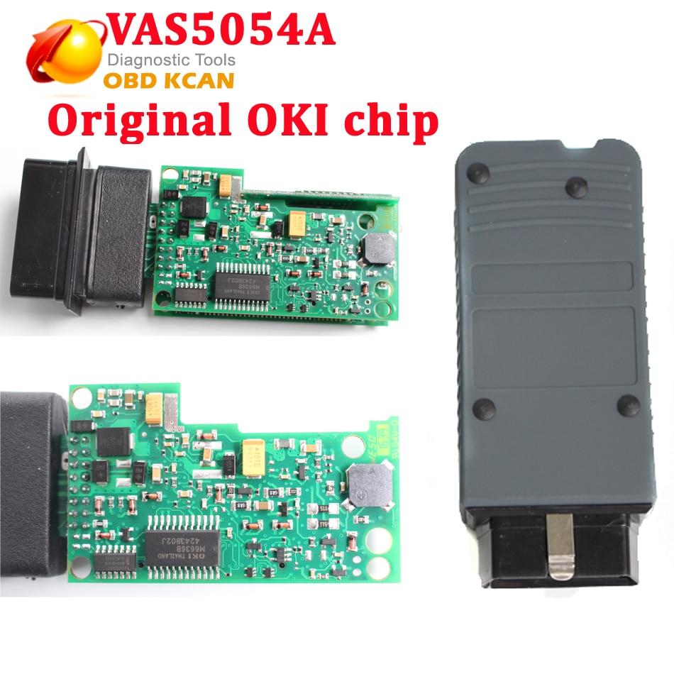Vas5054A Original OKI Chip Diagnostic Tool ODIS V3.0.3 Vas 5054A With Bluetooth Supports UDS Protocol for audi for vw for sk0da best quality vas 5054a full chip odis v2 2 4 with oki uds vas5054a vas5054 bluetooth diagnostic tool for vw audi seat skoda