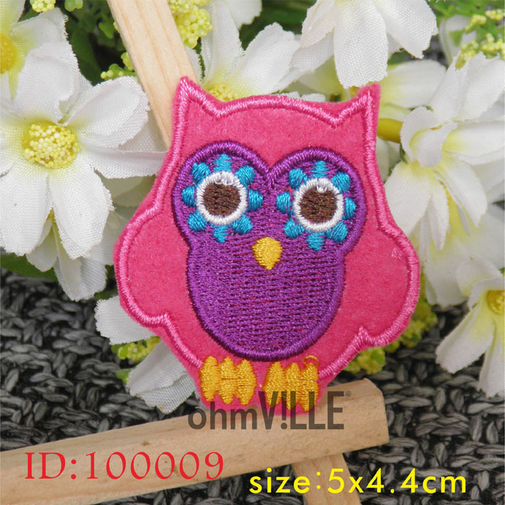 Patches Owl Iron on Attractive Design Owl Patches Cartoon Patch New Embroidered Patch Cloth Accessories Christmas Gift 100009