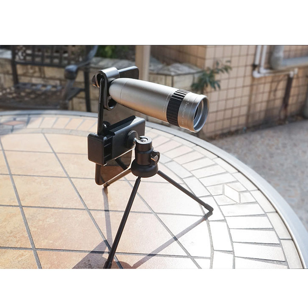 Cell Phone Lens 20X Optical Zoom Lens Clamp with Tripod for Universal Smartphones GT66