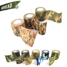 Elastic Stealth Tape Hunting Military Waterproof Camouflage Tape Airsoft Paintball Gun Camo Stretch Wrap for Gun CS War Durable(China)