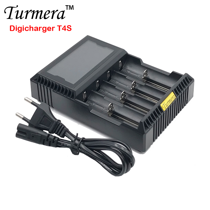 18650 battery charger lcd 18650 battery charger lcd Packin T4S for 26650 21700 18500 18350 14500 NI-MH NI-CD A AA batteryCharger