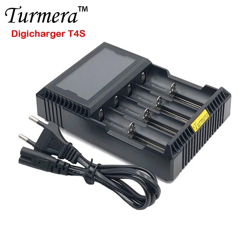 18650 ladegerät lcd 18650 ladegerät lcd Packin T4S für 26650 21700 18500 18350 14500 NI-MH NI-CD A AA battery