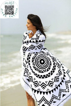 2018 New Summer Large Microfiber Printed Round Beach Towels With Tassel Circle Beach Towel Serviette De Plage Free shipping