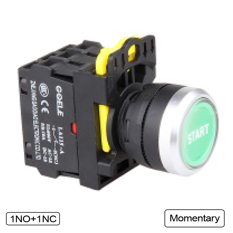 5 PCS Push button switch Industrial switch LED Latching OR Momentary Waterproof IP65 1NO 1NC 2NO 2NC 1 x 16mm od led ring illuminated latching push button switch 2no 2nc