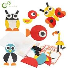 Montessori Di Legno Animale Di Puzzle Bordo Insieme Variopinto Del Bambino di Legno Educativo Giocattolo per I Bambini di Apprendimento Giocattoli in via di Sviluppo GYH