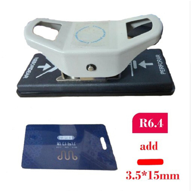 3.5X15mm Hole Punch and R6.4 C3.5X15mm Horner Punch for PVC Card, Photo, Paper; 2 in 1 Punch Cutter Paper Punches Reduced Effort