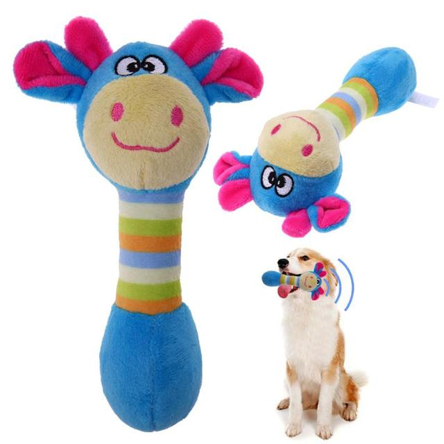 Cute Pet Dog Toys Chew Squeaker Animals Pet Toys Plush Puppy Honking Squirrel For Dogs Cat Chew Squeak Toy Dog Goods 1