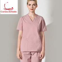 Hand wash suit split body suit for men and women short sleeve brush hand coat dental cosmetologist oral pet operating suit