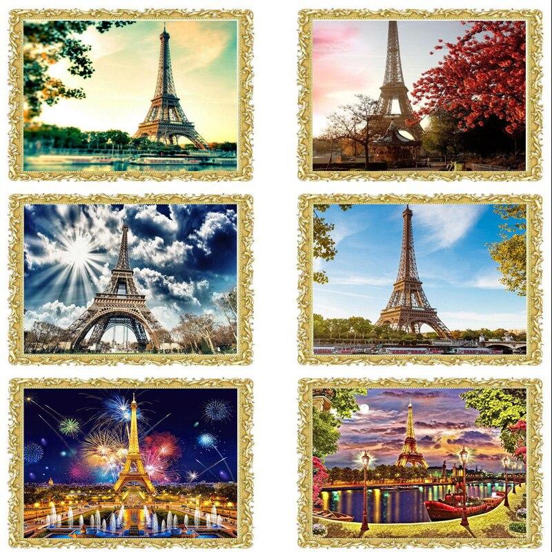 2018 nuevo diamante bordado París, Diamante pintura París, 5d ...