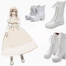 63662f9f706 Hataraku Saibou macrophage Cell At Work Cosplay Costume Black Butler Punk Lolita  Shoes Punk Sport Princess