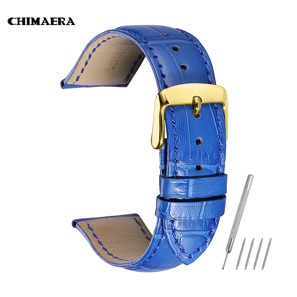CHIMAERA Watch Bands 14mm 16mm 18mm 20mm 22mm Women Strap Orange Red Beige Genuine Calf Leather Lady Watch Band