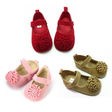 2017 New High Quality Festival Flower Soft 0 1 Years Bright Infant Baby Girls First Walkers